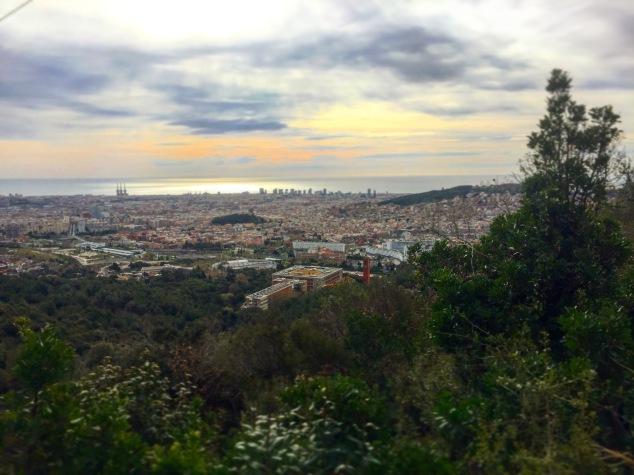 Trail Vélodrome Barcelone - Sant Cugat. Landscape.