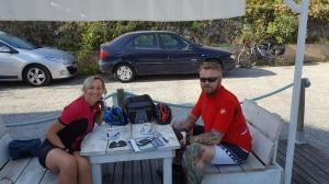 Pause café au Port de Bram